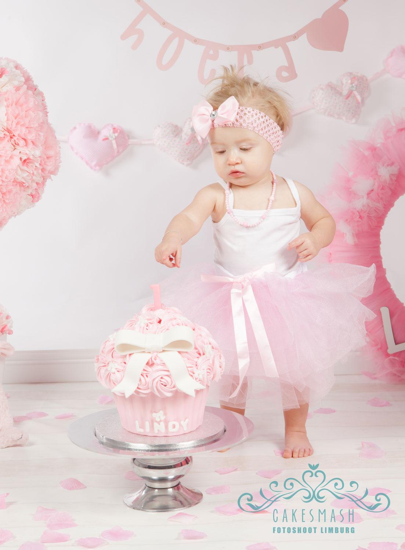 Wonderlijk Cakesmashfotoshoot-limburg-fotografie-1-jaar-taartje-03 - Cake SX-09
